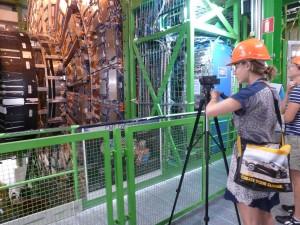 Filming at CERN